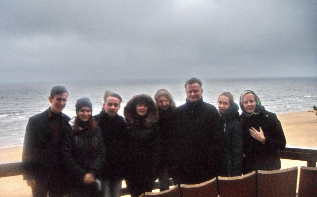Студенти мандрують. Біля Балтійського моря (2015 р)